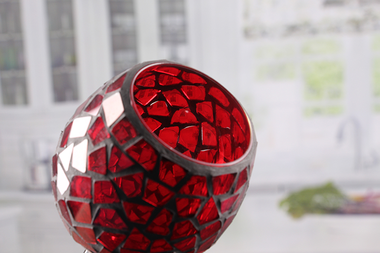 Mosaic candle holder set