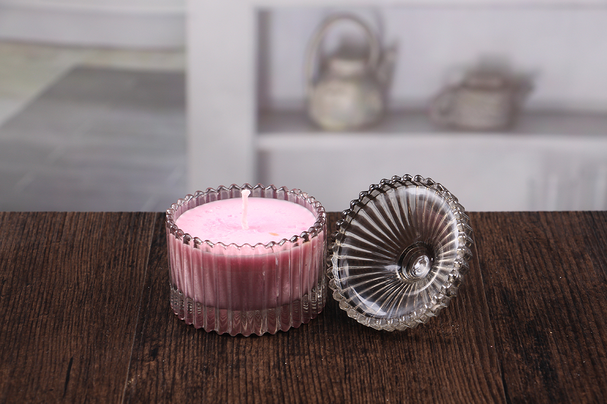 Candle holders with dome lids