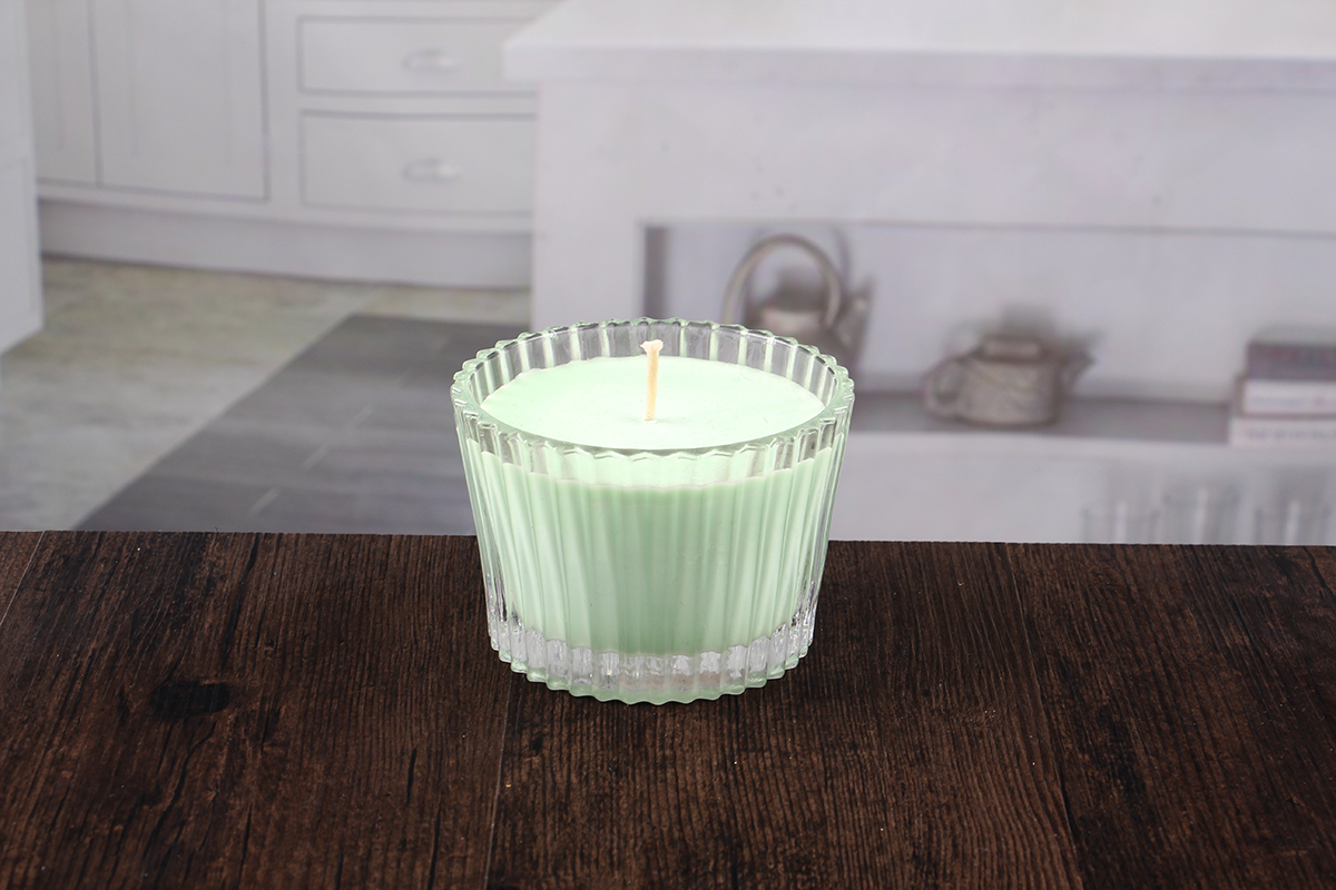 Glass bowl candle holder