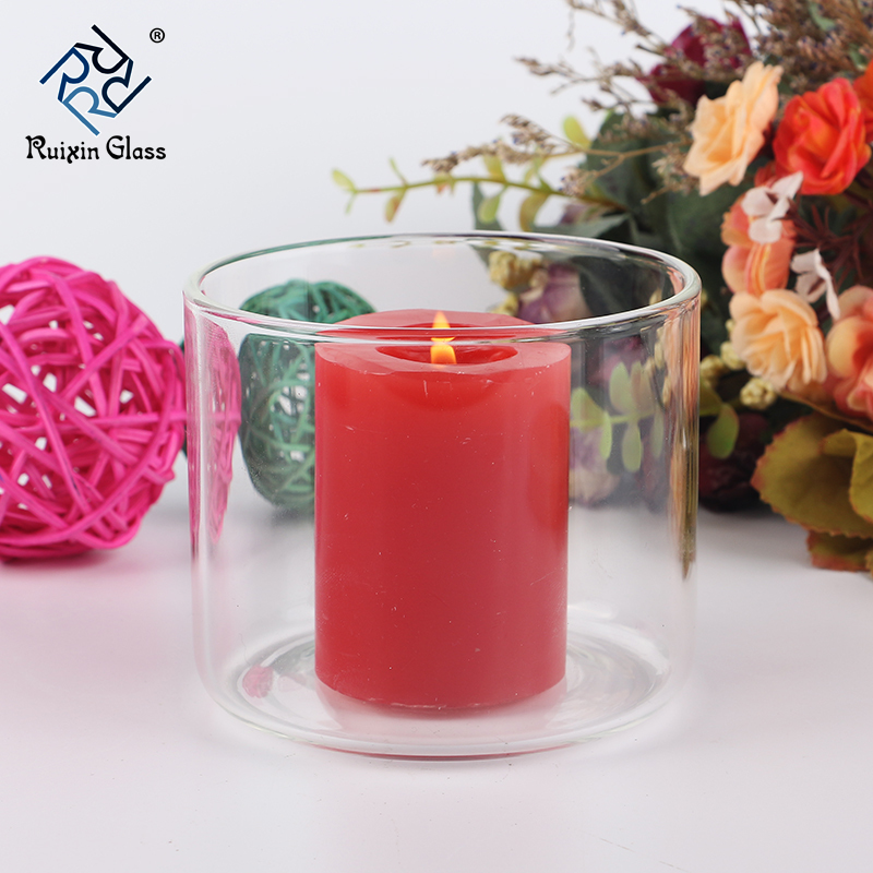 Hang glass candle holder