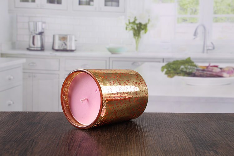 Golden votive candle holder