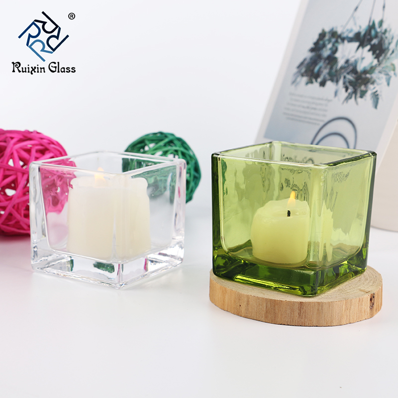 Decorating glass candle holders