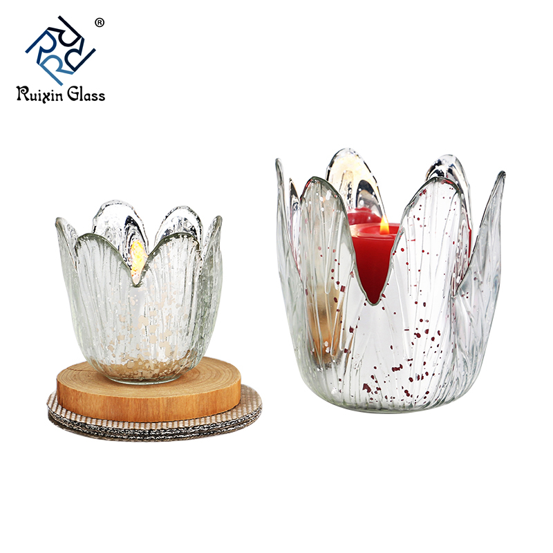 Colored ceramic candle holders