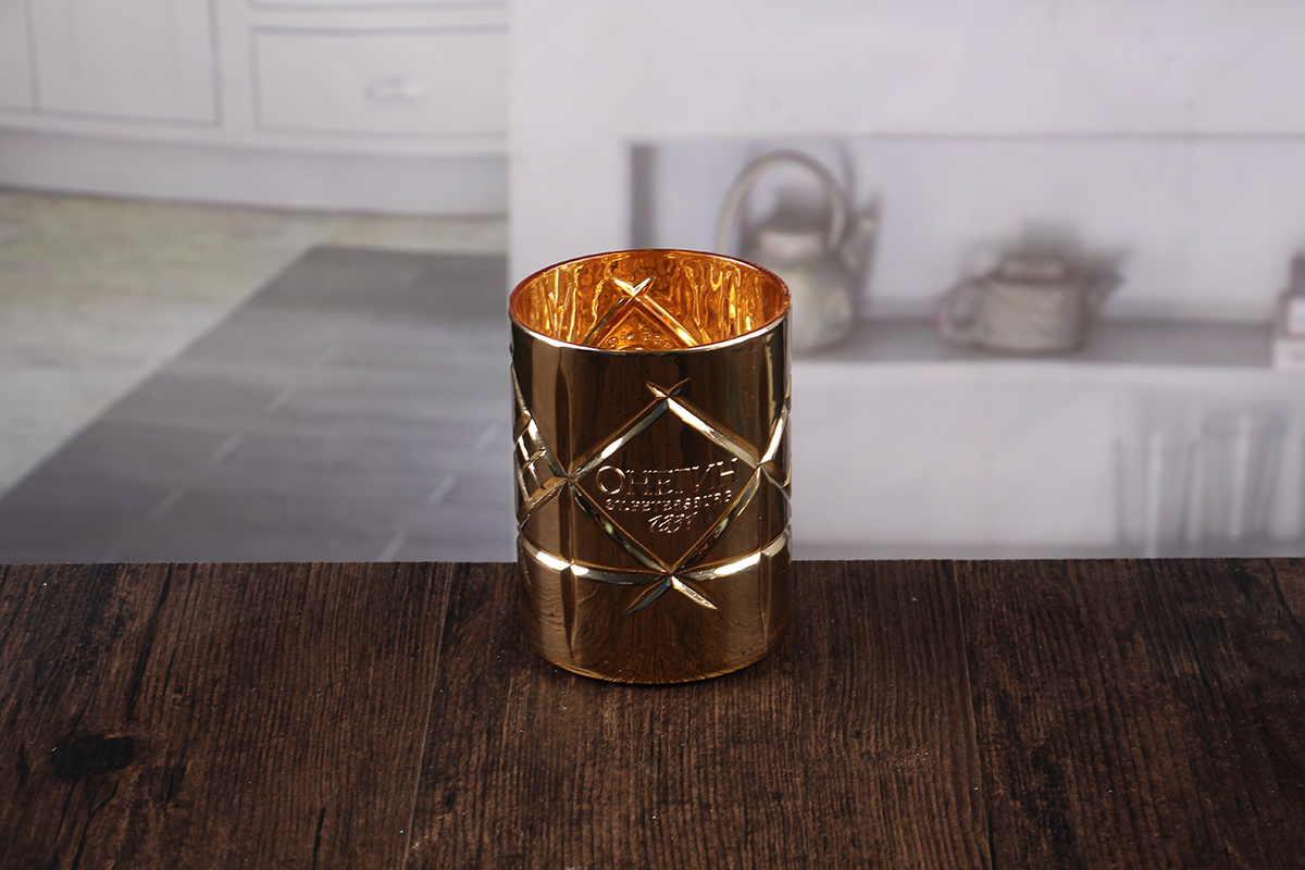 Golden stick candle holders