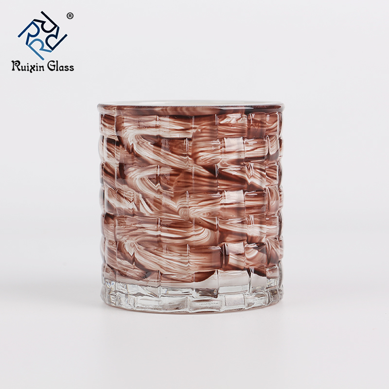 Gold rim candle holder