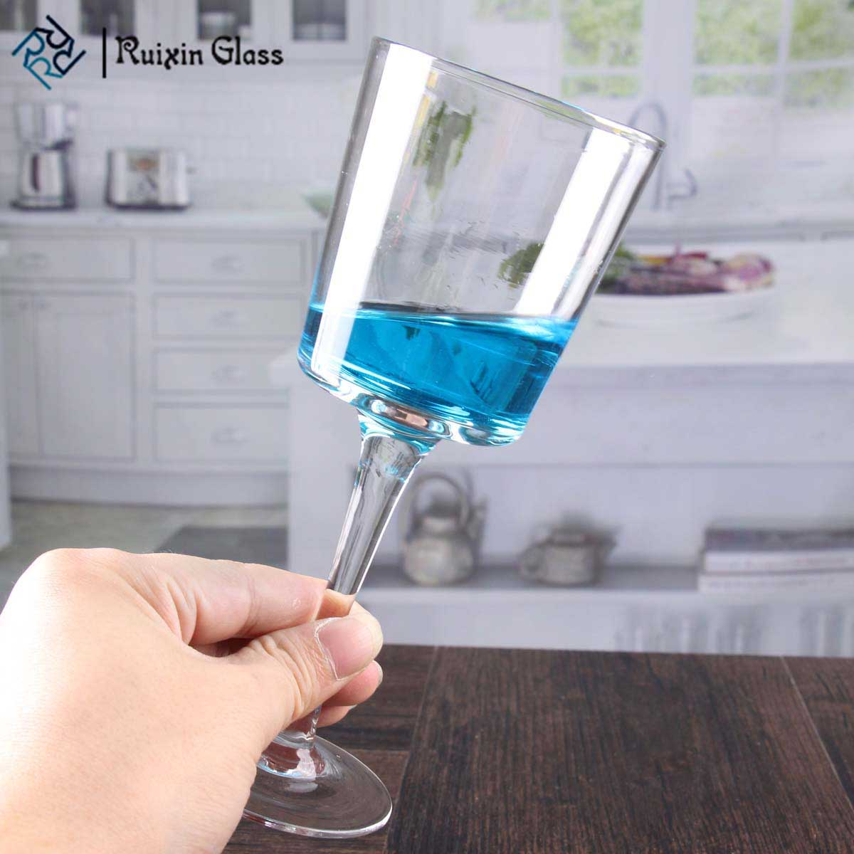 Glass goblet candle holders