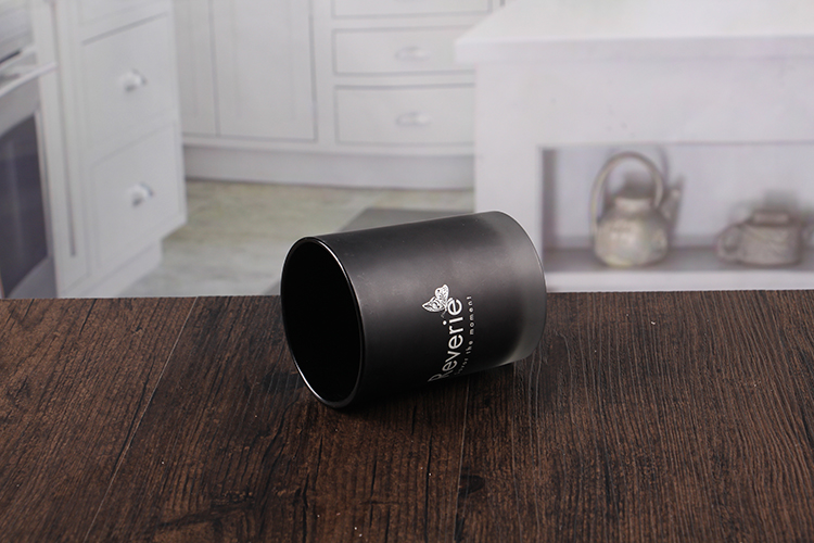 Black decorative candle holder