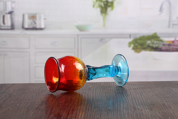 Wine glass shape candle holder