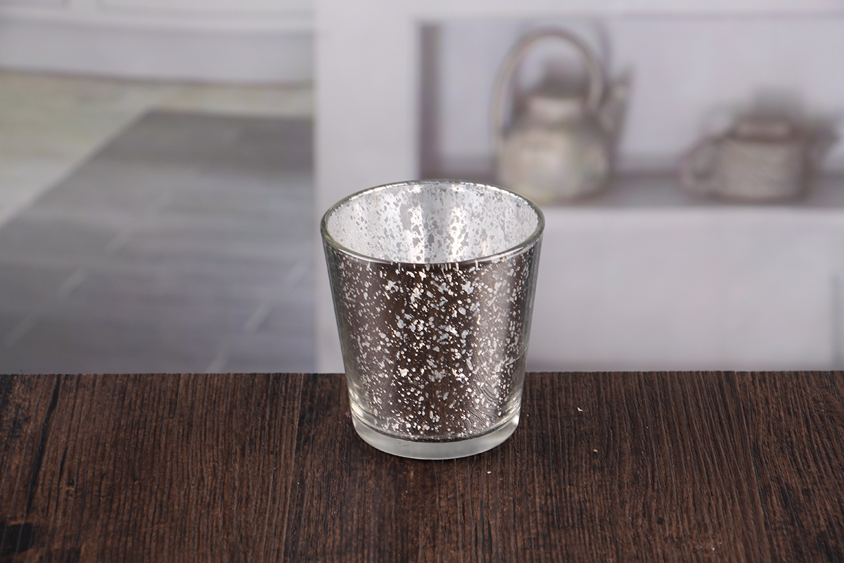 Small silver candle holders