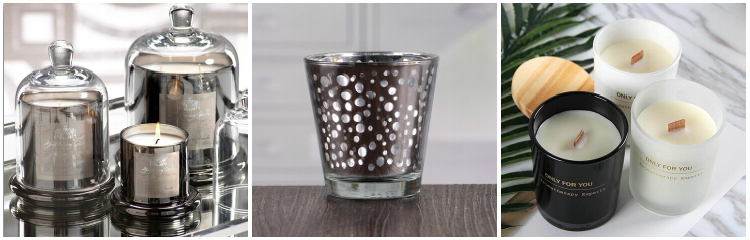 Pattern Square Glass 10OZ Candle Holder Manufacturer