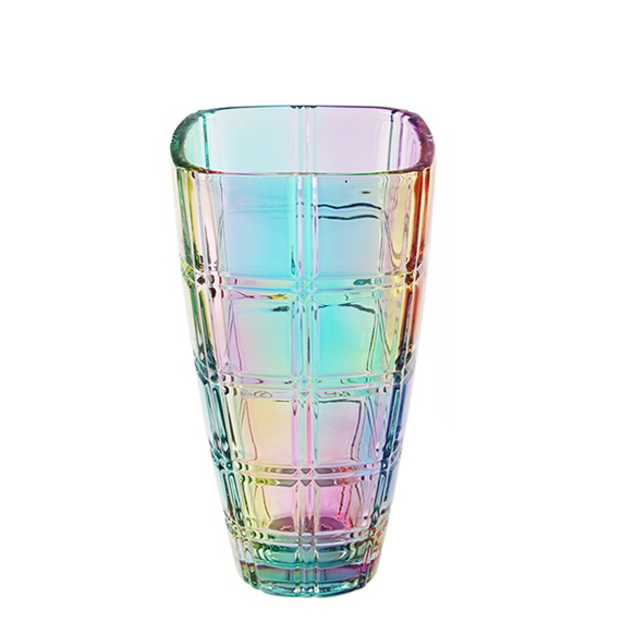Colored glass vase set