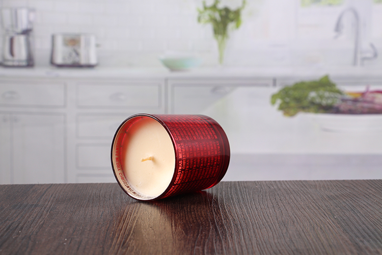 Red votive candle holders
