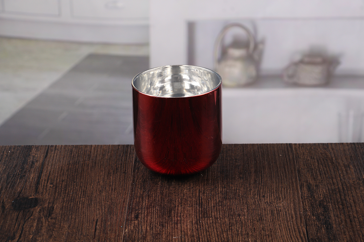 stemless glass candle holder