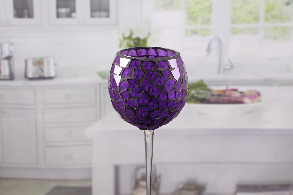 Colored glass votive holders
