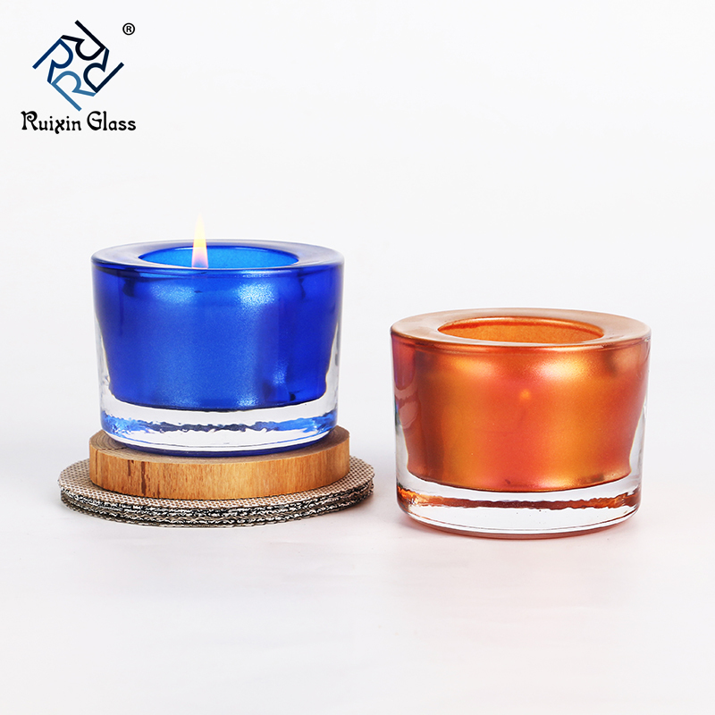 3 inch glass candle holder