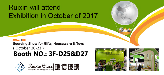 High quality glass candle holder Fair in HongKong
