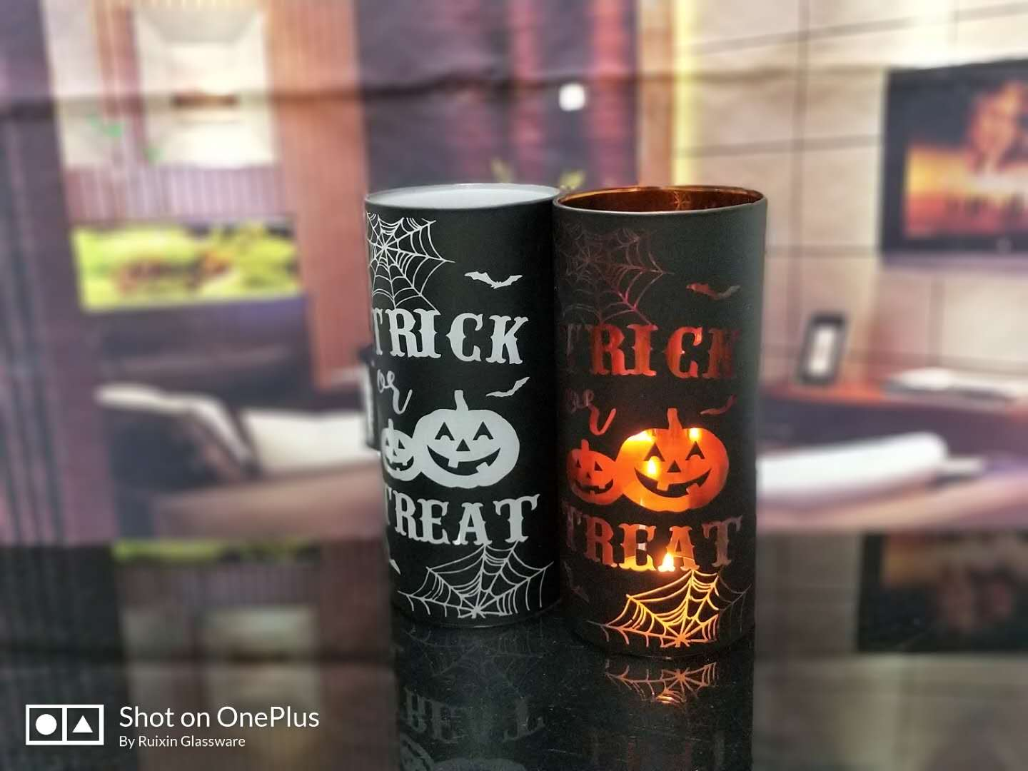 Groothandel Halloween Decoratie.Glas Kaars Houder Voor Halloween Decoratie China Candle Holder Leveranciers Wholesale Candle Holders Candlestick Holder Fabrikant China Candle Container Supplier Factory In China