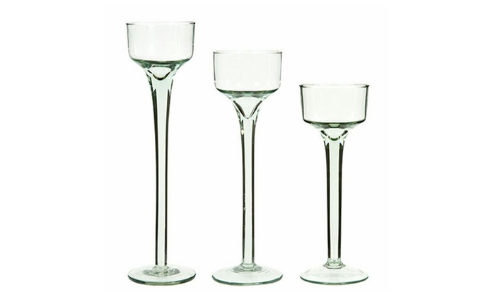 CD013 Latest Competitive Price Life Size Long-Stemmed Glass Candle Holder Factory From China