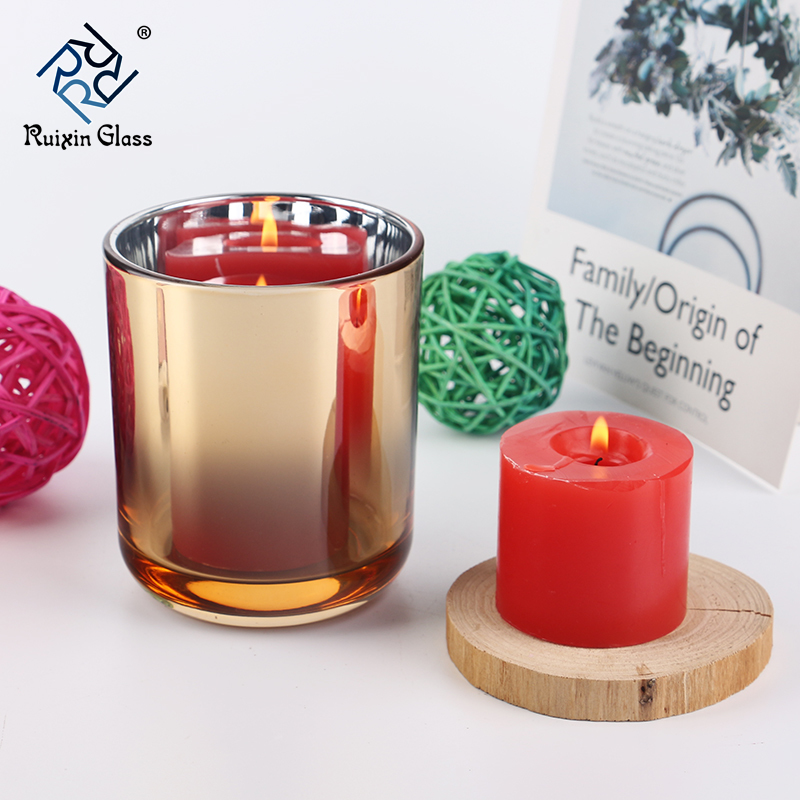 Golden candle holders