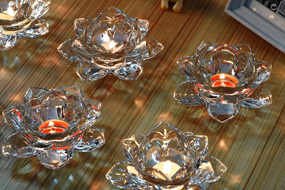 CD003 Latest Competitive Price Life Size Crystal Candle Holder Factory From China