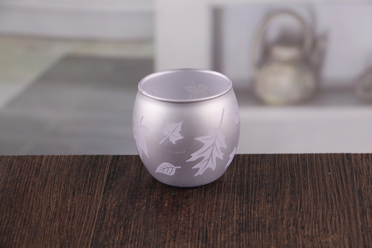 Small glass votive candle holder