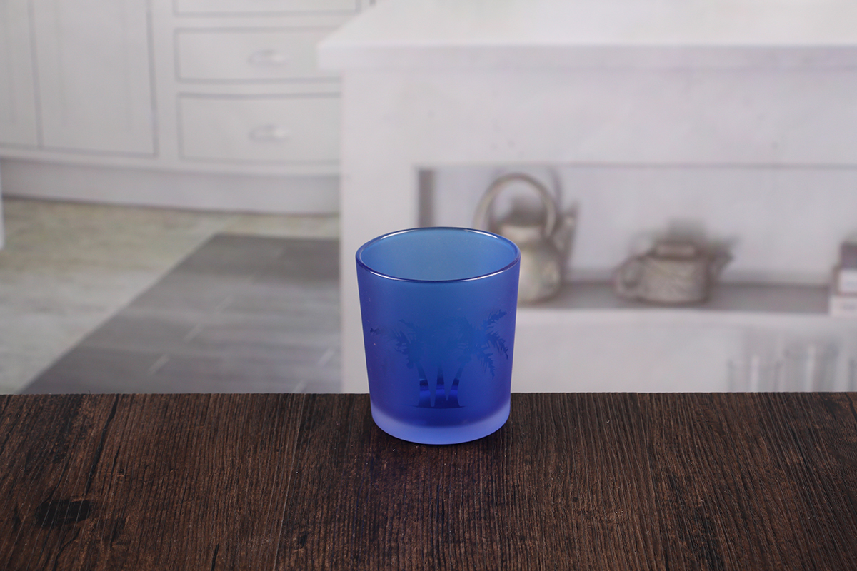 Handmade glass candle holder