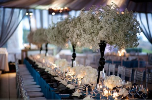 How can I use glass candle holder for my centerpieces at my wedding?