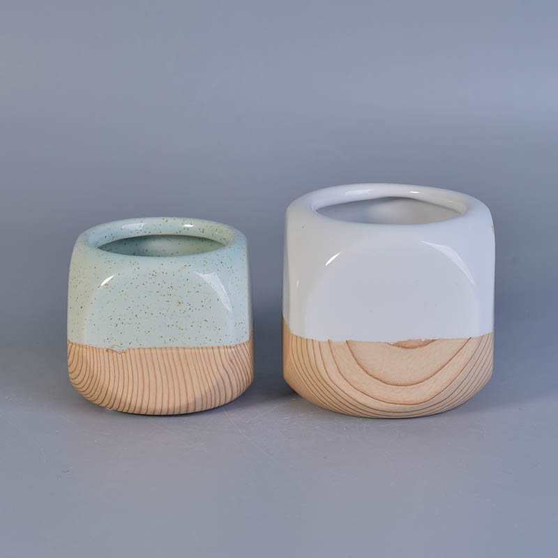 Small ceramic candlesticks