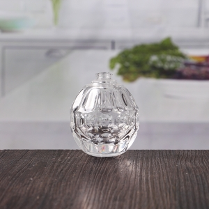 60 ml oval embossed glass perfume bottle on sale