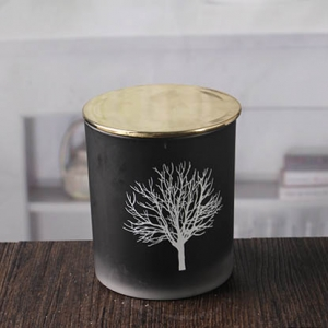 Black glass candle holder votive candle holder wholesale