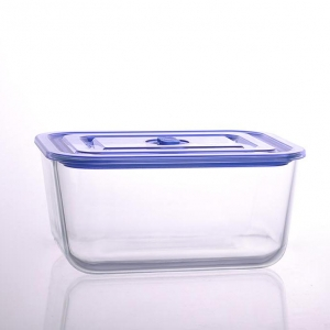 Factory direct wholesale oblong heat resistant glass bowl with lid