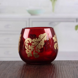 Factory direct wholesale red bulk beautiful candle holders