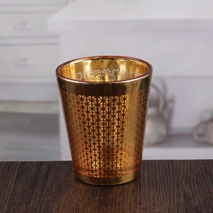 Factory price wholesale golden candle holder wall tealight candle holder