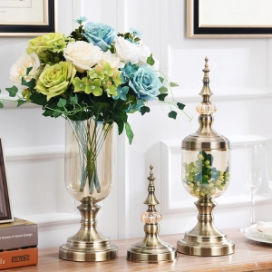New style 2017 fashion home goods metal flower vase wholesale