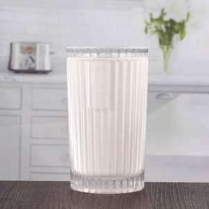 White candle jars cheap glass candle jars on sale
