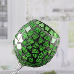 Bottomless mosaic candle holder colored glass votive holders wholesale