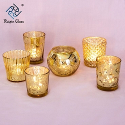 China CD012 Top Sale Low Price Customization Rose Gold Candle Holder Manufacturer In China factory