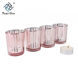 China CD017 New Fashion Custom Logo Glass Tea Light Candle Holder Supplier From China factory