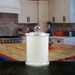 Chinese factory direct wholesale white embossed glass candle holder with lids