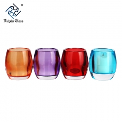 Classical colored glass Iron candle holders for Wedding decoration
