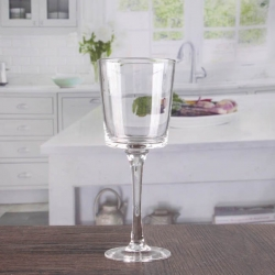 China Clear candlesticks glass goblet candle holders wholesale factory
