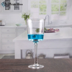 Clear glass goblet votive candle holders high quality glass stemmed candle holders wholesale