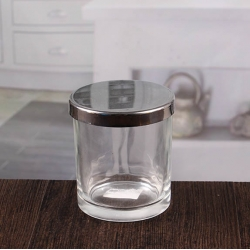China Clear small candle jars candle holders glass wholesale factory