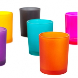Color glass candle holder, Color spray candle holder Factory
