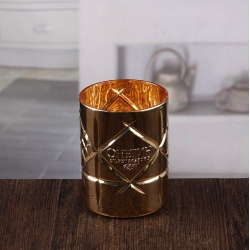 Golden stick candle holders embossed hurricane lantern candle holder wholesale
