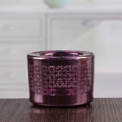 China Good quality cheap purple thick candle holders in bulk factory