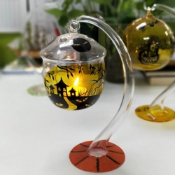 China Halloween Glass Candle Holders Supplier fabriek