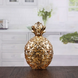 China Pineapple shape golden candle holders wholesale small gold candle holders on sale factory