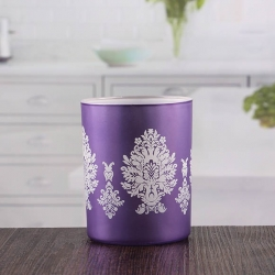China Purple votive candle holders bulk glass candle container manufacturer factory