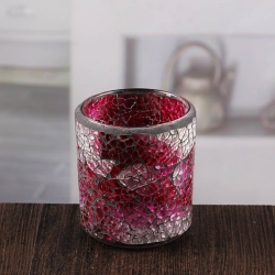 Red glass candle holder small candlestick holders mosaic candle sconces wholesale